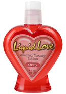 Liquid Love Warming Massage Lotion Cherry 4 Ounce