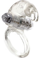Linx Classic Rabbit Vibrating Cock Ring - Clear