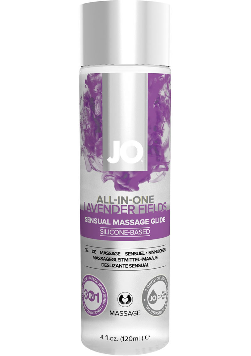 Jo All-in-one Silicone Massage Glide Lavender 4oz