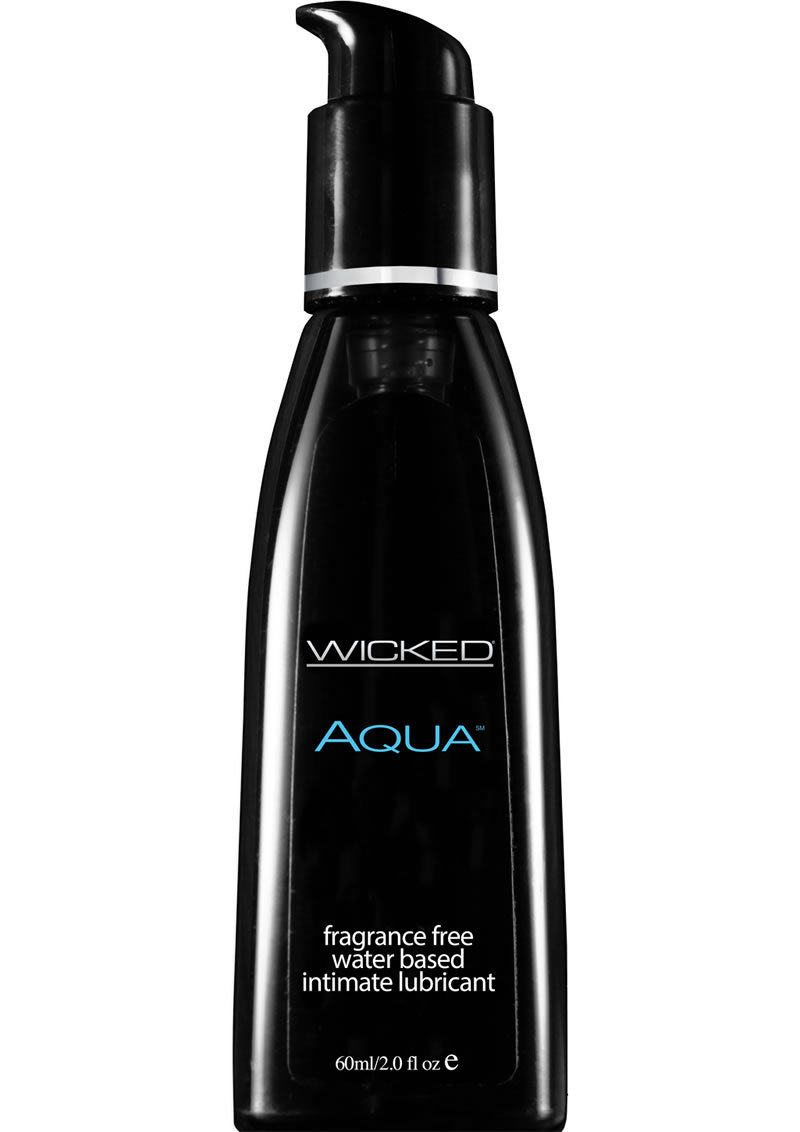 Wicked Aqua Water Based Lubricant Fragrance Free 2oz