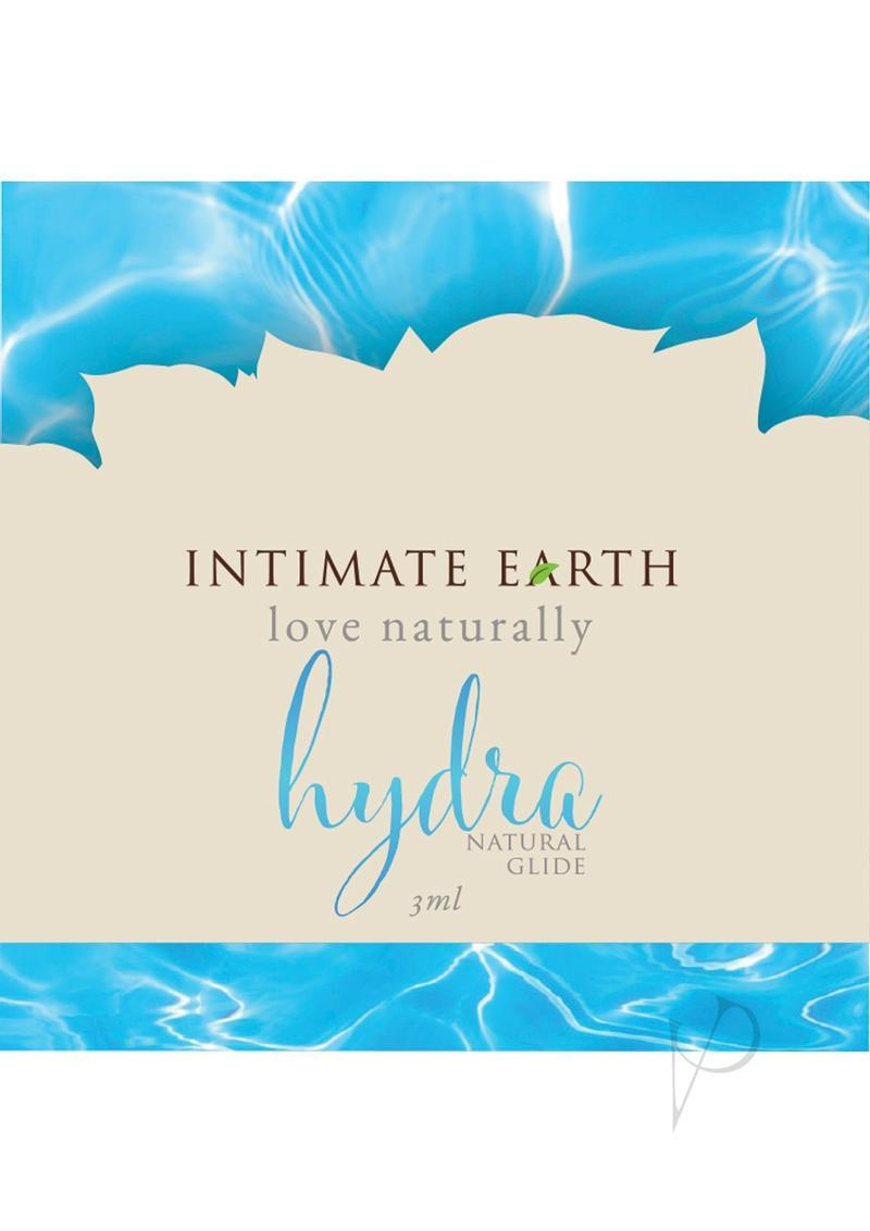 Intimate Earth Hydra Natural Glide Water Based Natural Plant Cellulose Lubricant 3ml