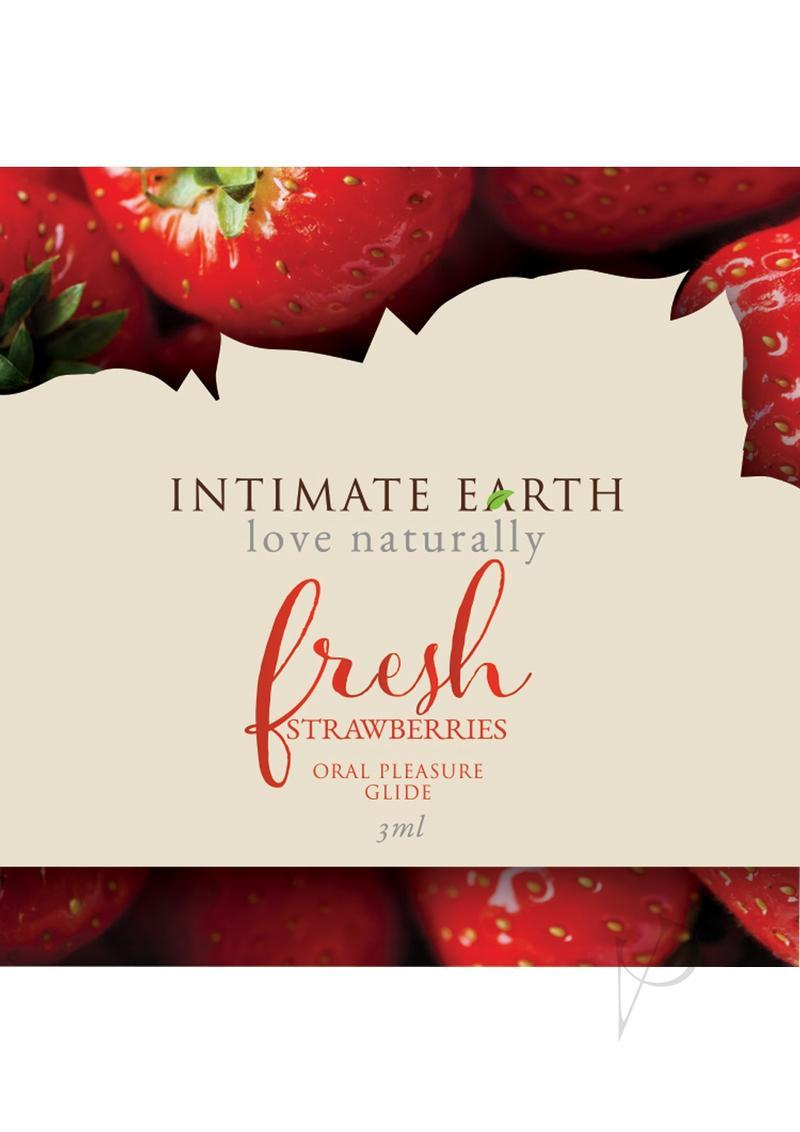 Intimate Earth Natural Flavors Glide Lubricant Fresh Strawberries 3ml Foil