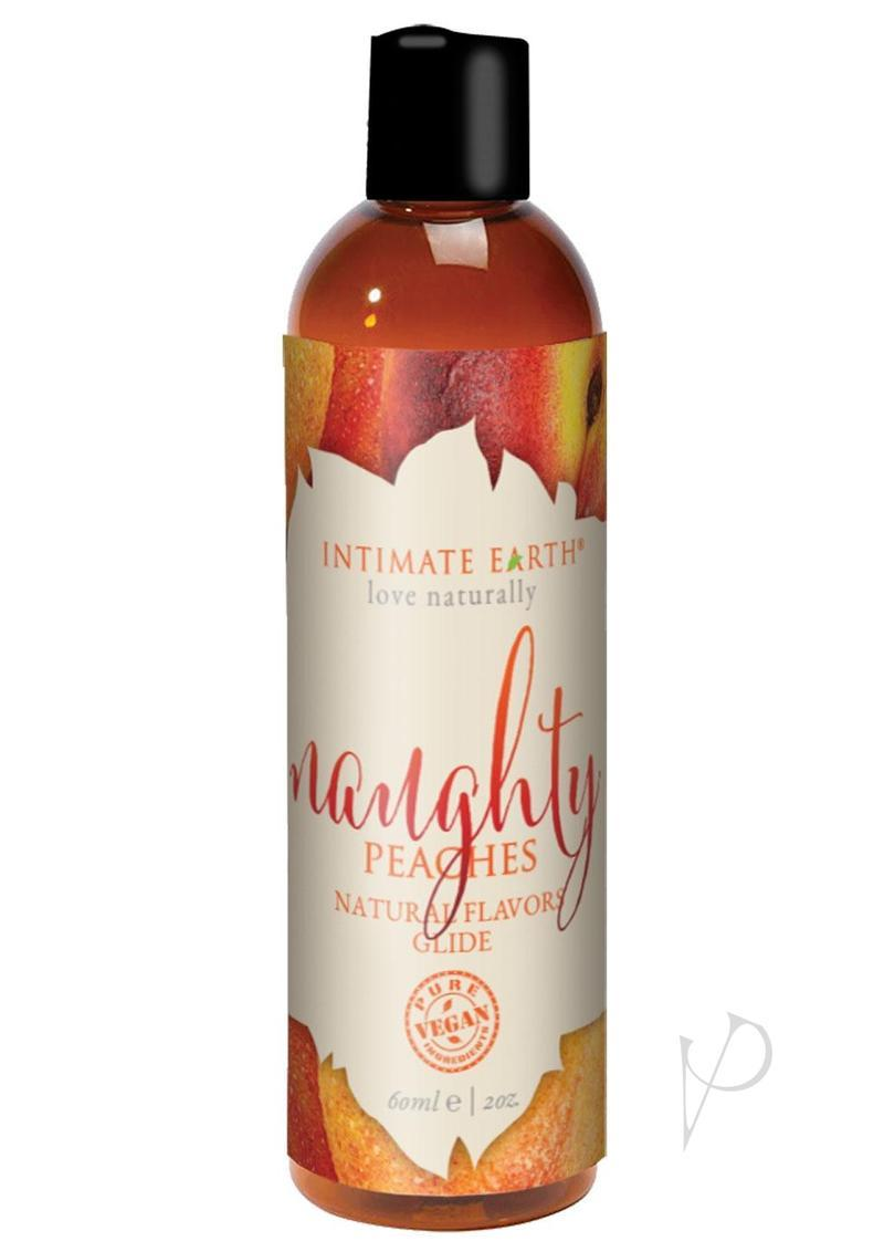 Intimate Earth Natural Flavors Glide Lubricant Naughty Nectarines 2oz