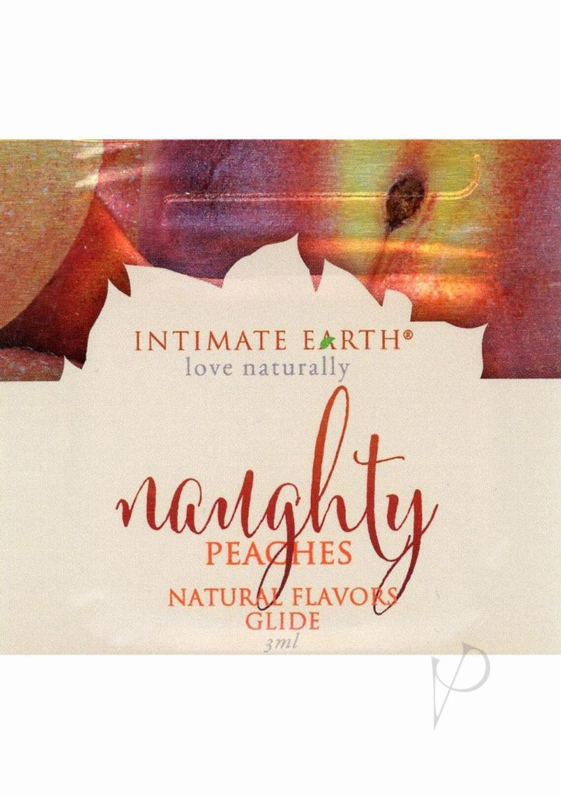Intimate Earth Natural Flavors Glide Lubricant Naughty Nectarines 3ml Foil