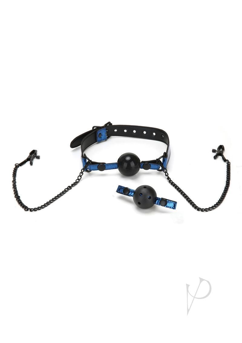 Whip Smart Diamond Gag/nipple Clips - Blue